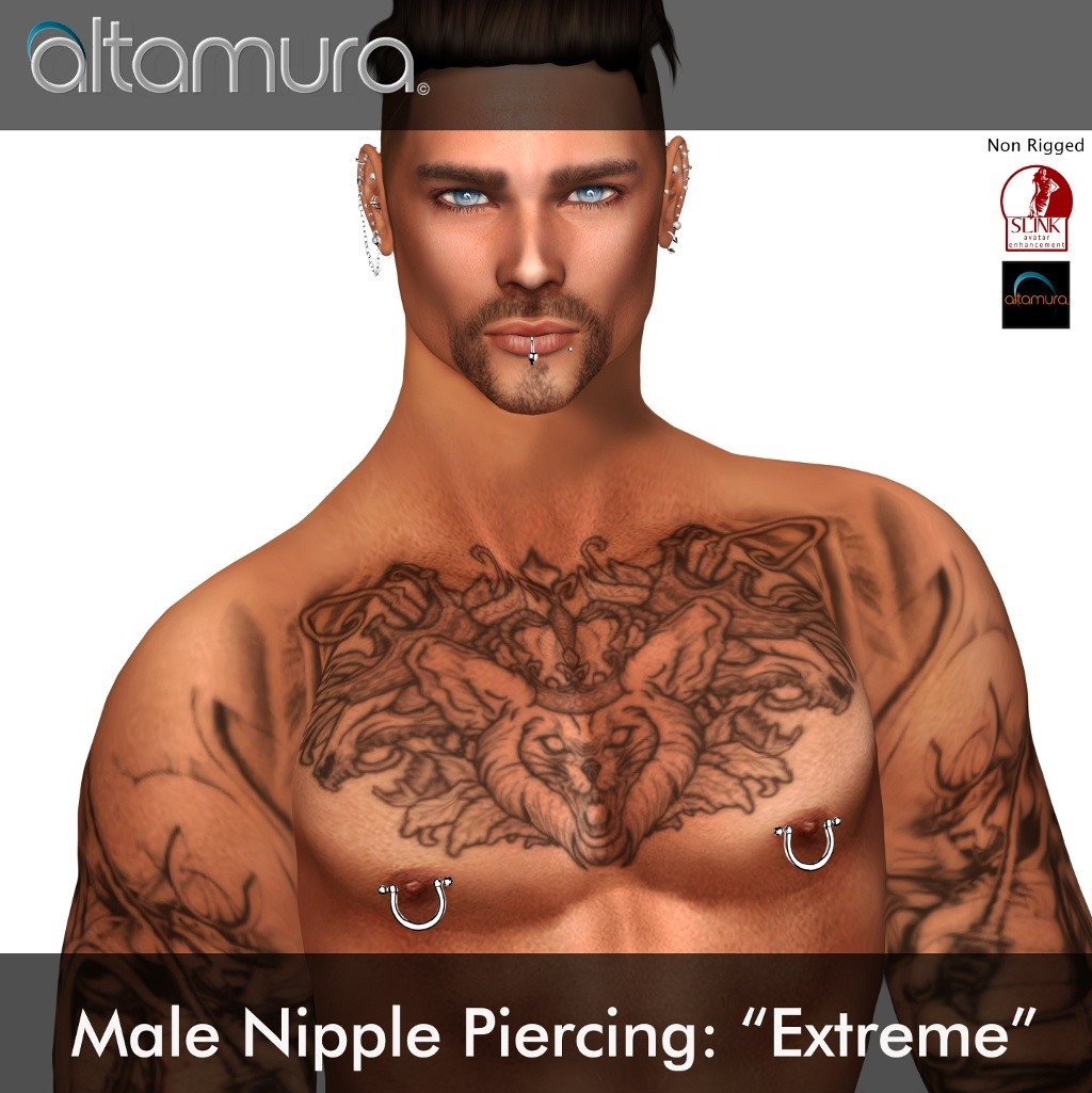 Altamura Extreme Male Nipple Piercings