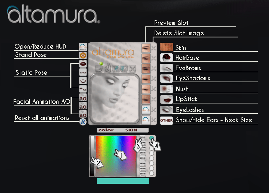 Altamura 0- FEMALE HEAD HUD use